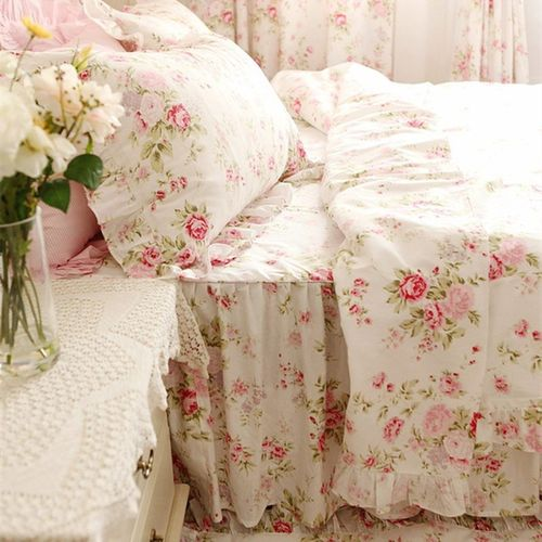 Biancheria Letto Shabby Chic.Set Biancheria Letto Shabby Chic Isabelle