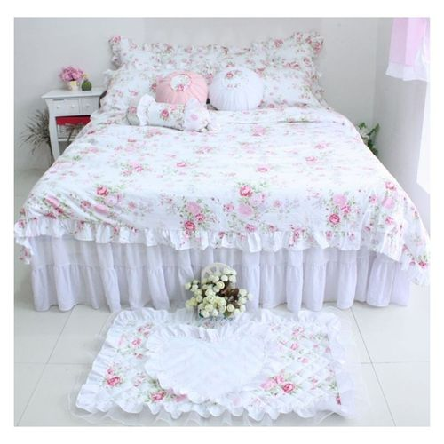 Set biancheria letto shabby chic isabelle - Letto country chic ...