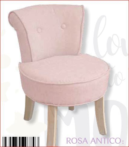 POLTRONCINA SHABBY CHIC ISABELLE 44X47X60