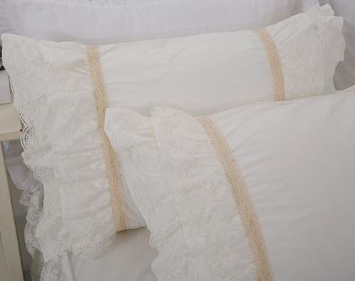 SET FEDERE CON ROUCHES IN PIZZO SHABBY ROMANTIQUE CHIC ISABELLE