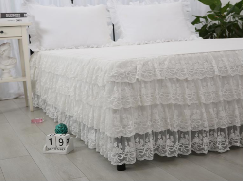 VESTILETTO SHABBY ROMANTIQUE CHIC A 4 BALZE IN PIZZO