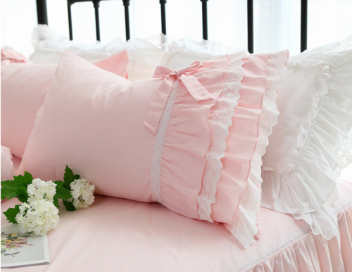 COPPIA FEDERE ROSA CON ROUCHES IN SANGALLO  ROMANTIQUE CHIC